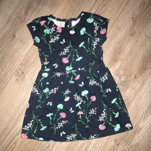 🌺 Girls 4T Floral Short Sleeve Dress 👗 Carter's